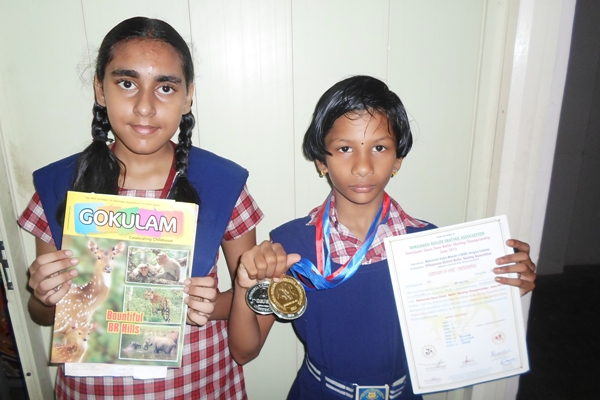 S.P. Doyal V Std -Tamil Nadu State roller Skating Tournament IV Rank ,V Rank - Silver medal , II road - Gold medal, Nardhana Ramakrishnan won the special prize for a book Review contest conducted by gokulam and her review was published.