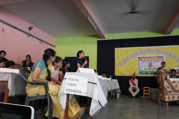 Mock Parliament Was Conducted on 26/09/2015